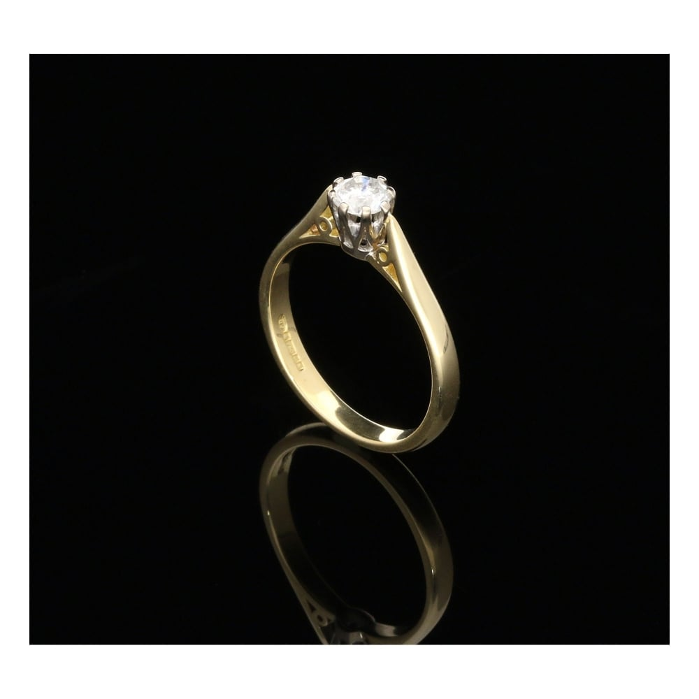 Milton S Secondhand 18ct Yellow Gold Engagement Ring 0 33ct
