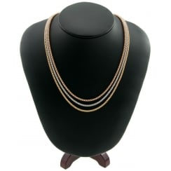 18ct Yellow, White & Rose Gold Necklet
