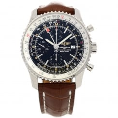 Navitimer A2432212 - Black Dial - Crocodile Leather Strap - 2014