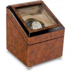 Optima Walnut Burr Mono Automatic Watch Winder