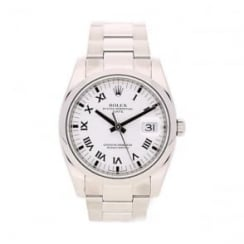 Oyster Date 115200 Pre-Owned Mens Watch, White Roman Dial, 2009