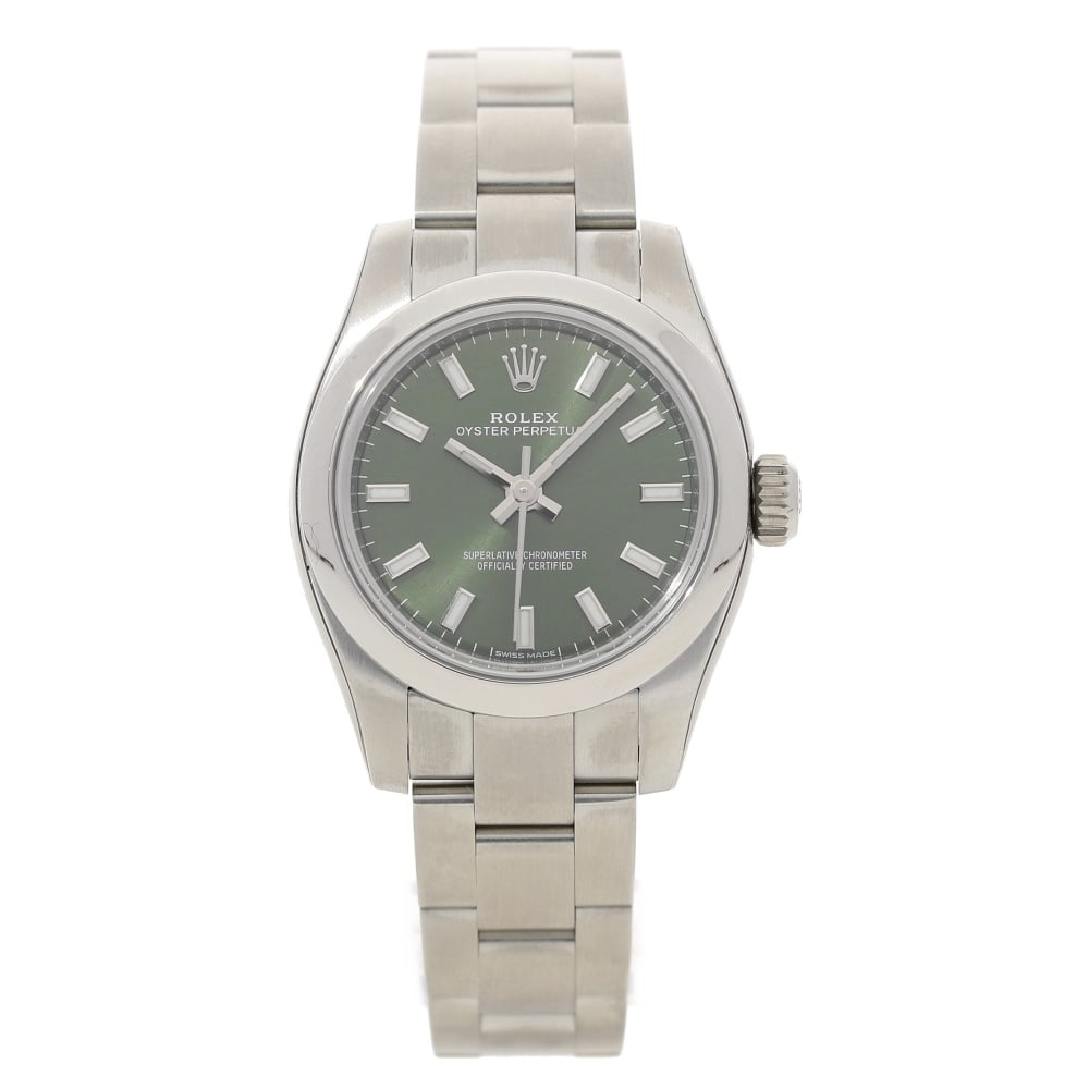 Rolex Oyster Perpetual 176200 Olive Green Dial Unworn 2016