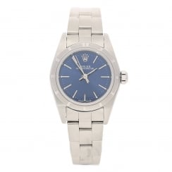 Oyster Perpetual 76030 - Ladies Watch - Blue Dial - 2003