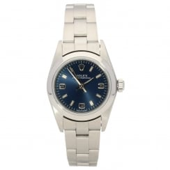 Oyster Perpetual 76080 - Ladies Watch - Blue Dial - 2002