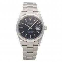 Oyster Perpetual Date 15200 - Gents Watch - Black Dial - 2001