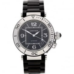 Pasha 2790 Watch - Black Dial - Rubber & Steel Bracelet