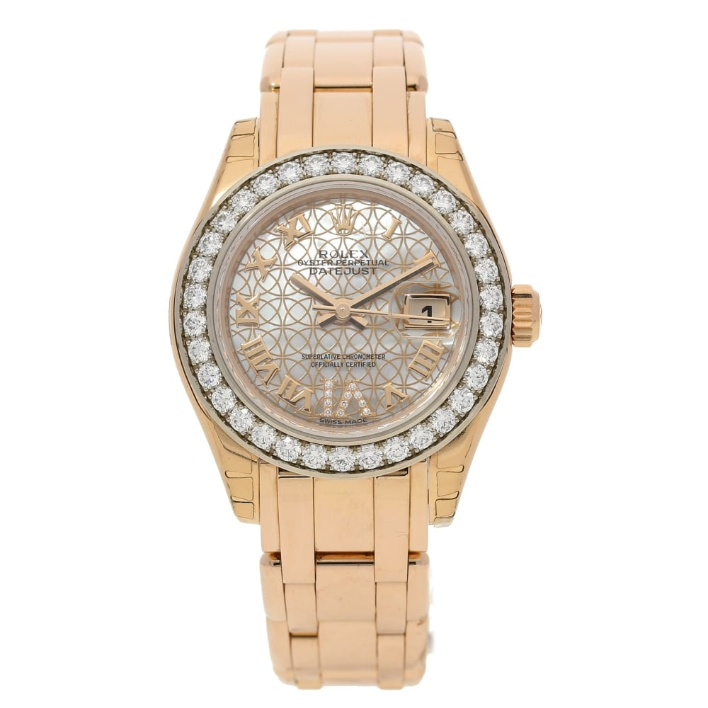 Rolex pearlmaster 80285 everose gold watch unworn 2015 miltons diamonds for Rolex pearlmaster