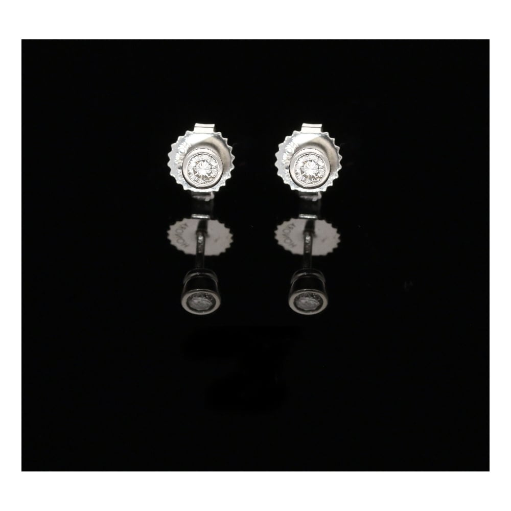 milton 39 s secondhand platinum diamond stud earrings. Black Bedroom Furniture Sets. Home Design Ideas