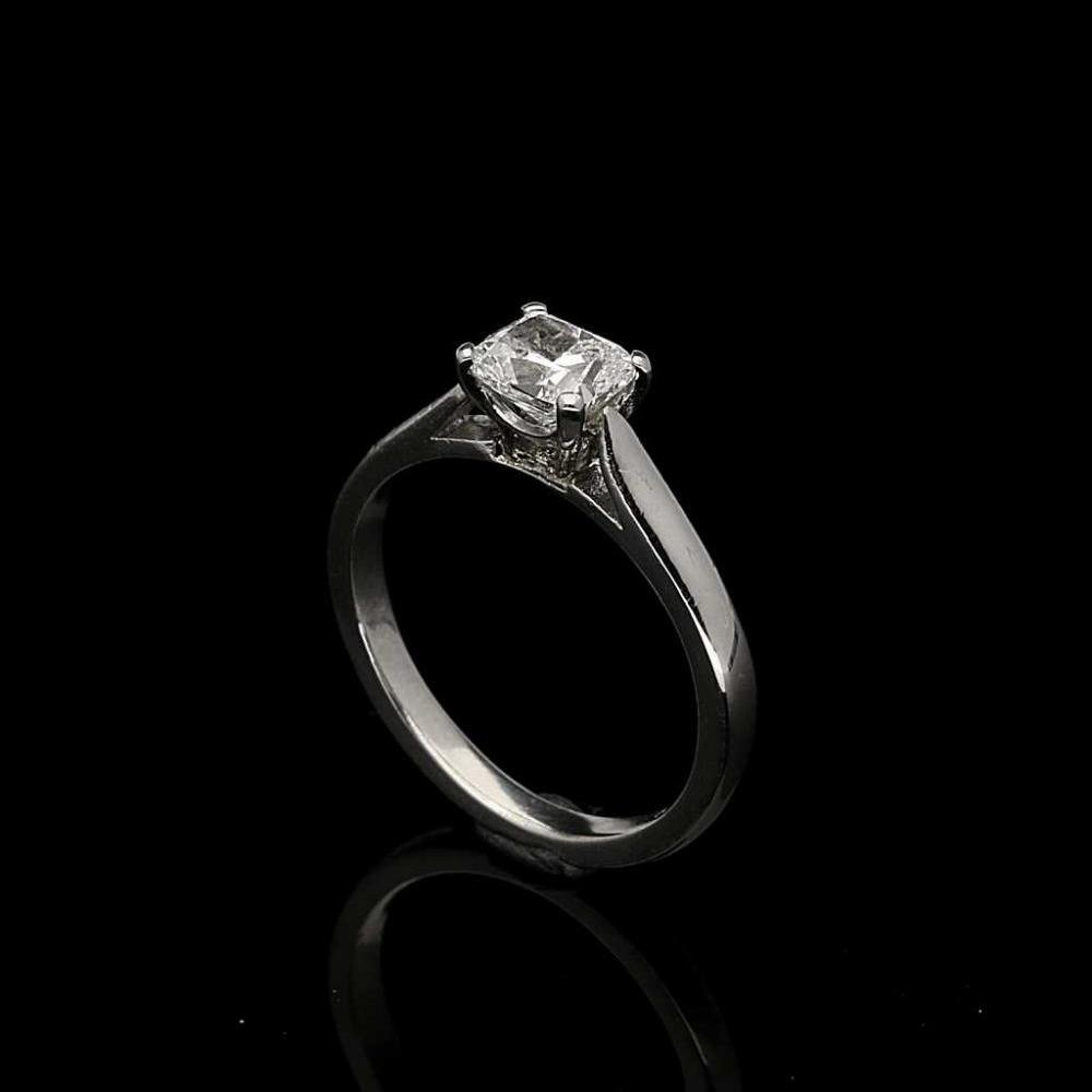 certified palladium rings diamond carat gia ring vintage in i halo sidestones si engagement