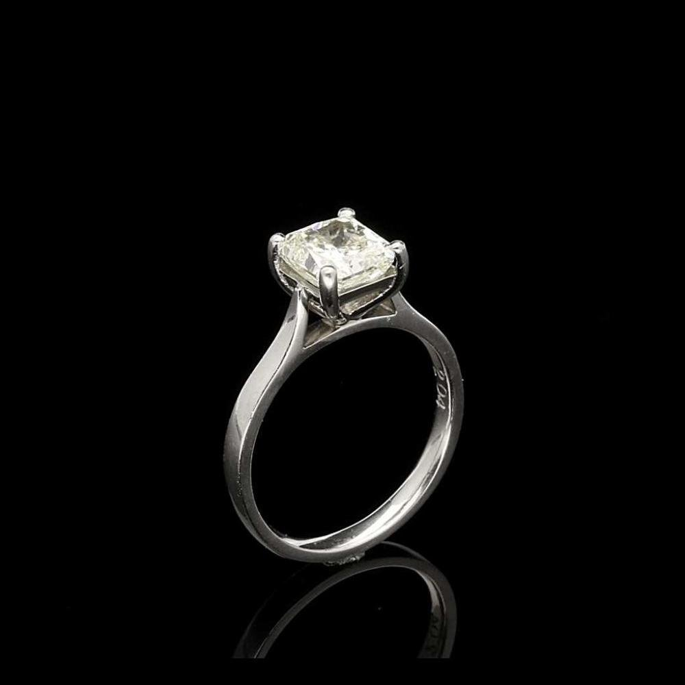 diamond engagement cut ring princess exhibition square jewelry rng ct rings