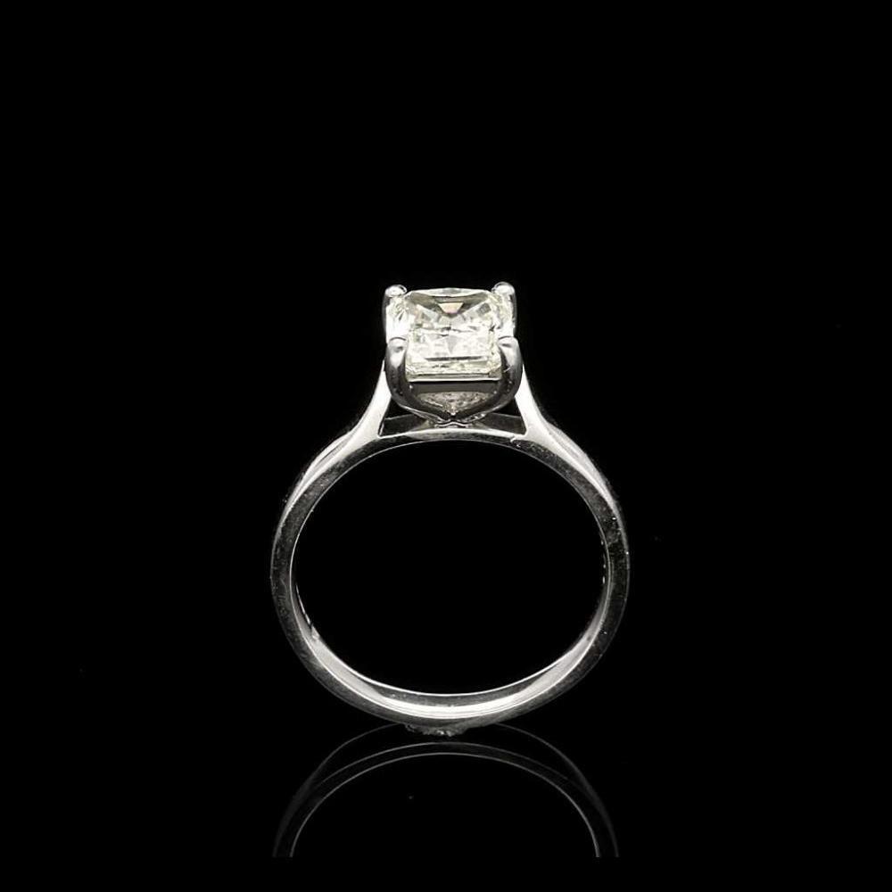 Platinum Square Cut Diamond Ring 204ct