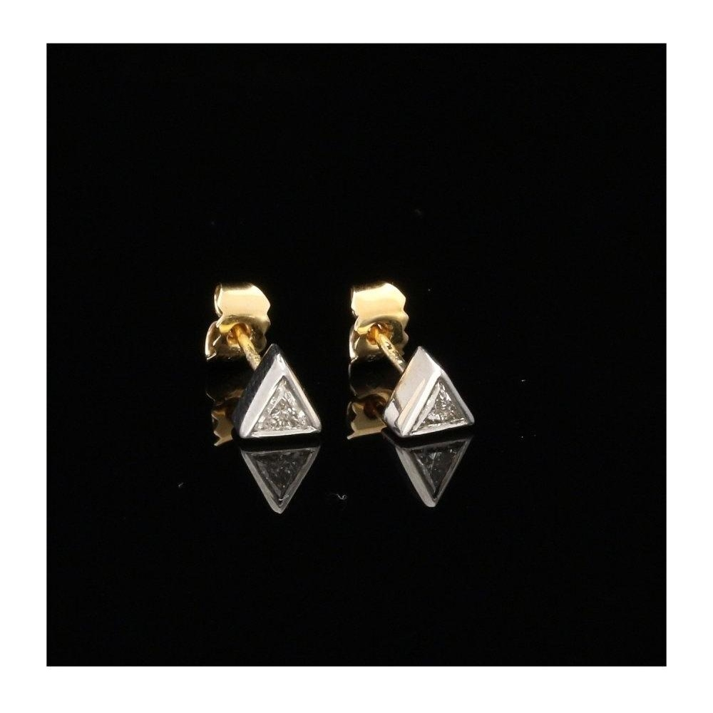 Pre Owned 18ct Trilliant Cut Diamond Stud Earrings