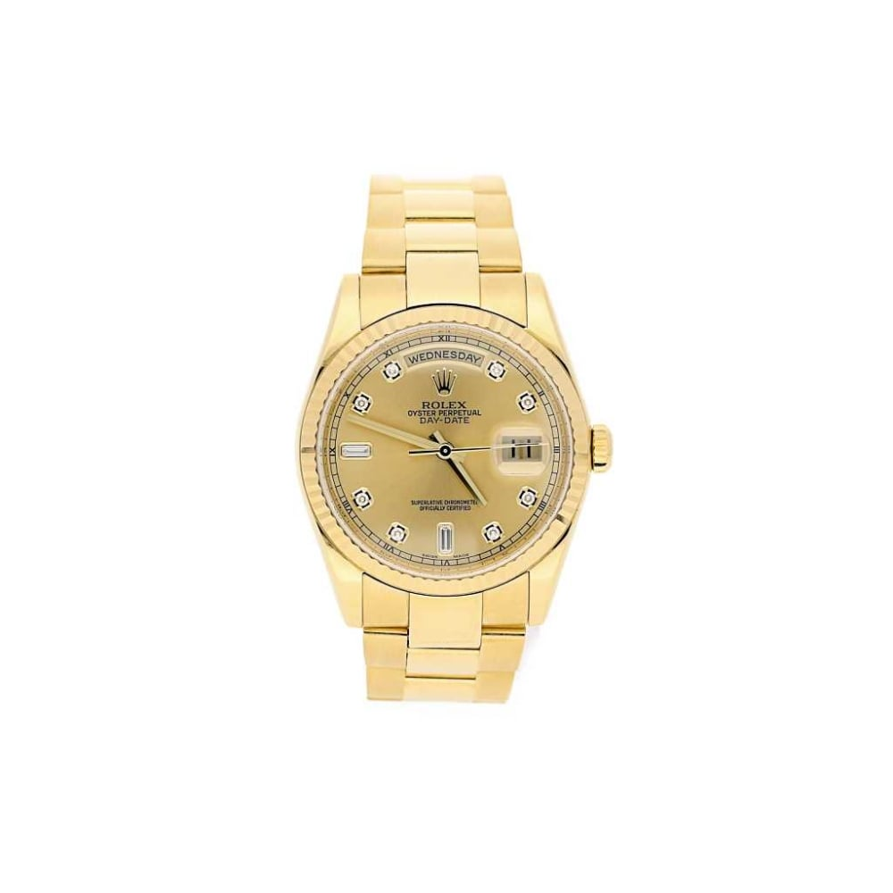 second 18ct yellow gold rolex day date 118238