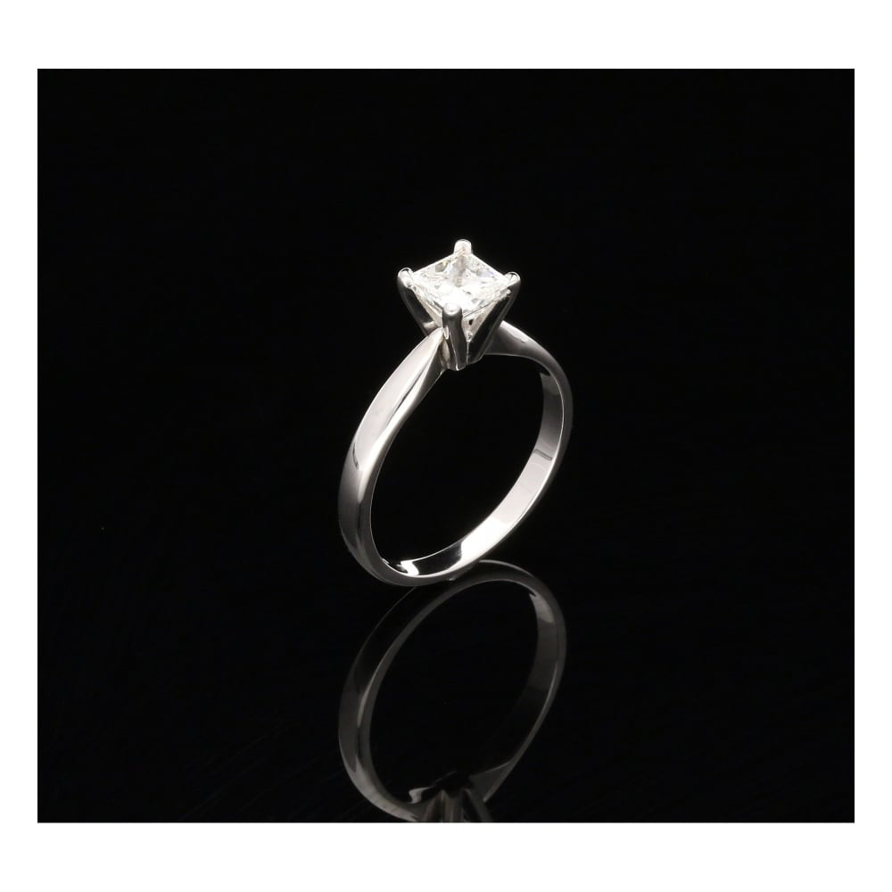 Milton s Secondhand Princess Cut Four Claw Engagement Ring 1 03ct