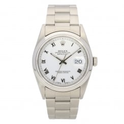 Datejust 16200, White Dial, Mens Second Hand Watch, 1994