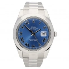 Datejust II 116300 - Gents Watch - Blue Dial - 2014