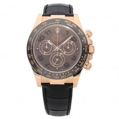 Daytona 116515LN - Gents Rose Gold Watch - Leather Strap - 2016