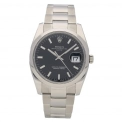 Oyster Date 115200 34mm Black Dial, 2012