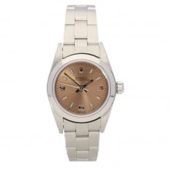 Oyster Perpetual 76080 - Ladies Watch - Copper Dial - 2001