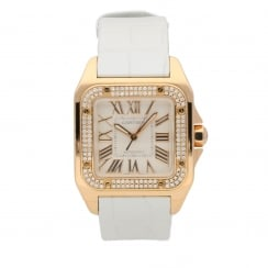 Santos 100 WM50450M - Rose Gold Watch- Diamond Bezel - 2010
