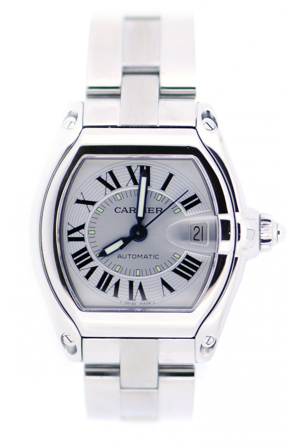 cartier second hand cartier roadster automatic watch cartier from eric g milton ltd uk. Black Bedroom Furniture Sets. Home Design Ideas