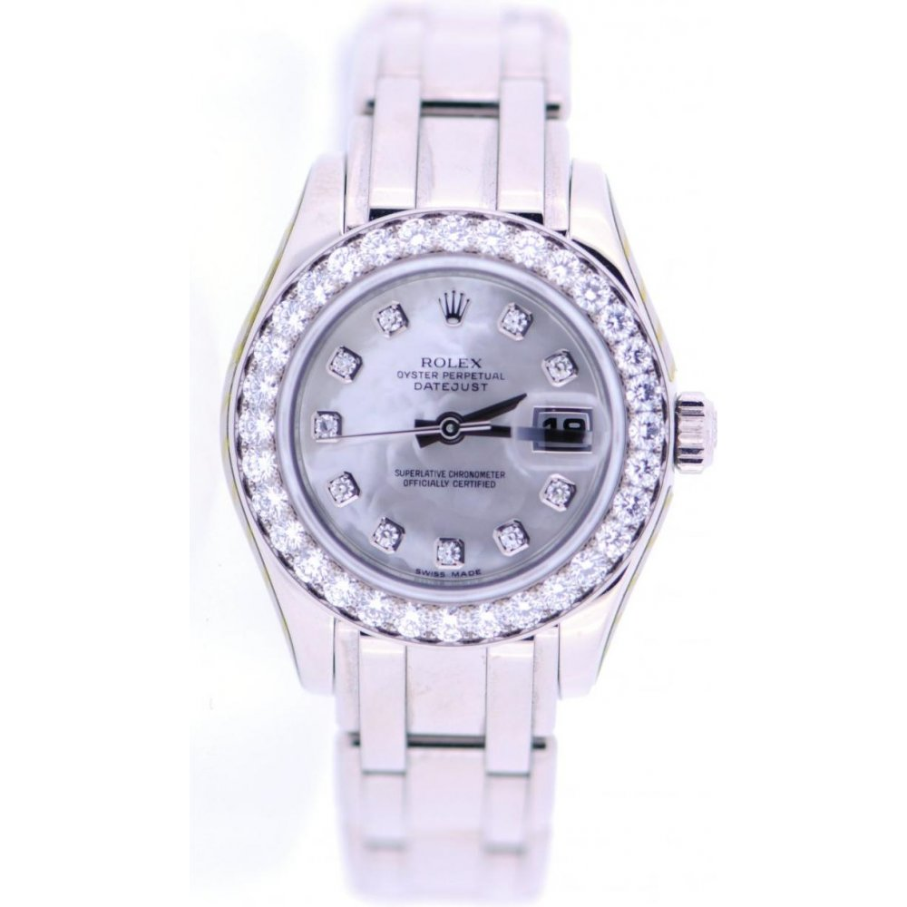 rolex second hand ladies rolex pearlmaster 80299 watch watches from miltons diamonds uk. Black Bedroom Furniture Sets. Home Design Ideas