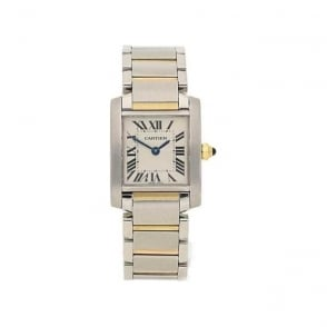 Second Hand Lady's Cartier Tank W51007Q4 - Steel and Gold - 2384