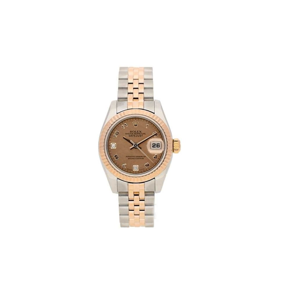 rolex second hand lady 39 s rolex datejust 179171 steel and rose gold rolex from eric g milton. Black Bedroom Furniture Sets. Home Design Ideas