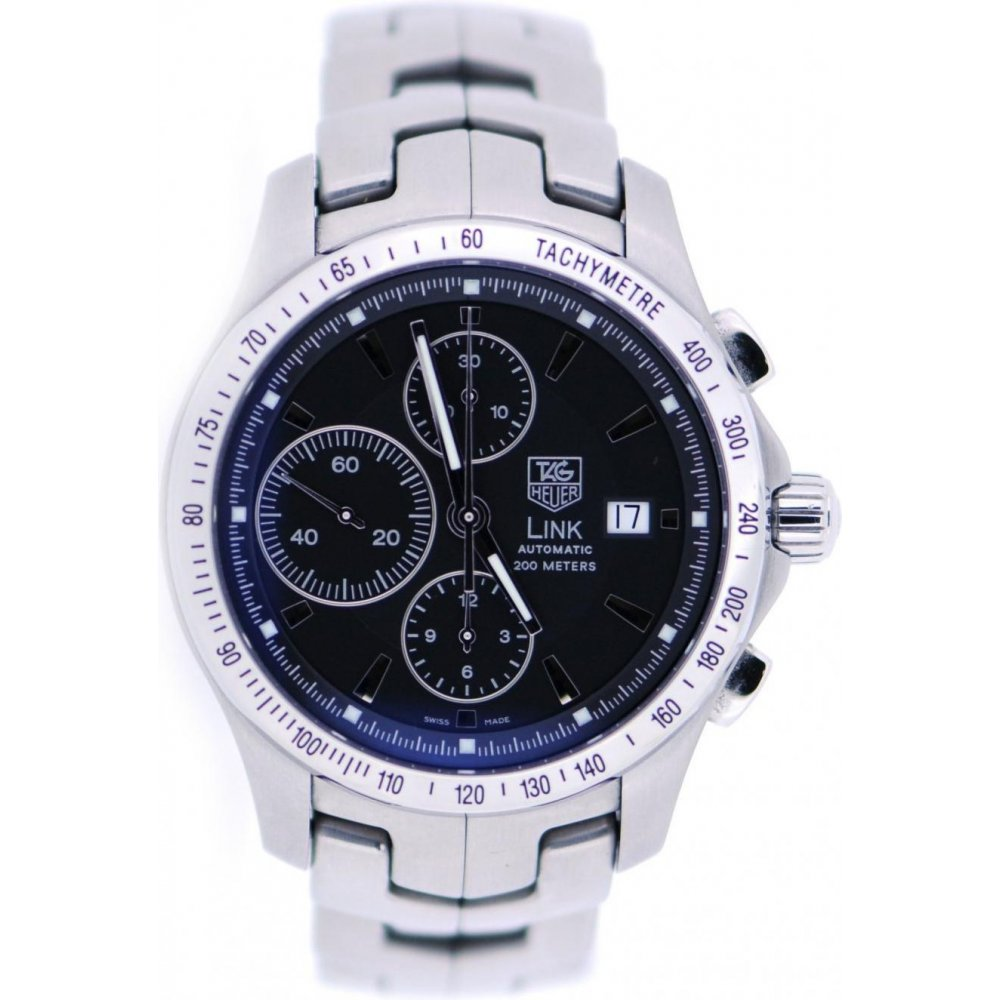 Tag heuer second hand mens tag heuer link watch watches from miltons diamonds uk for Tag heuer d link