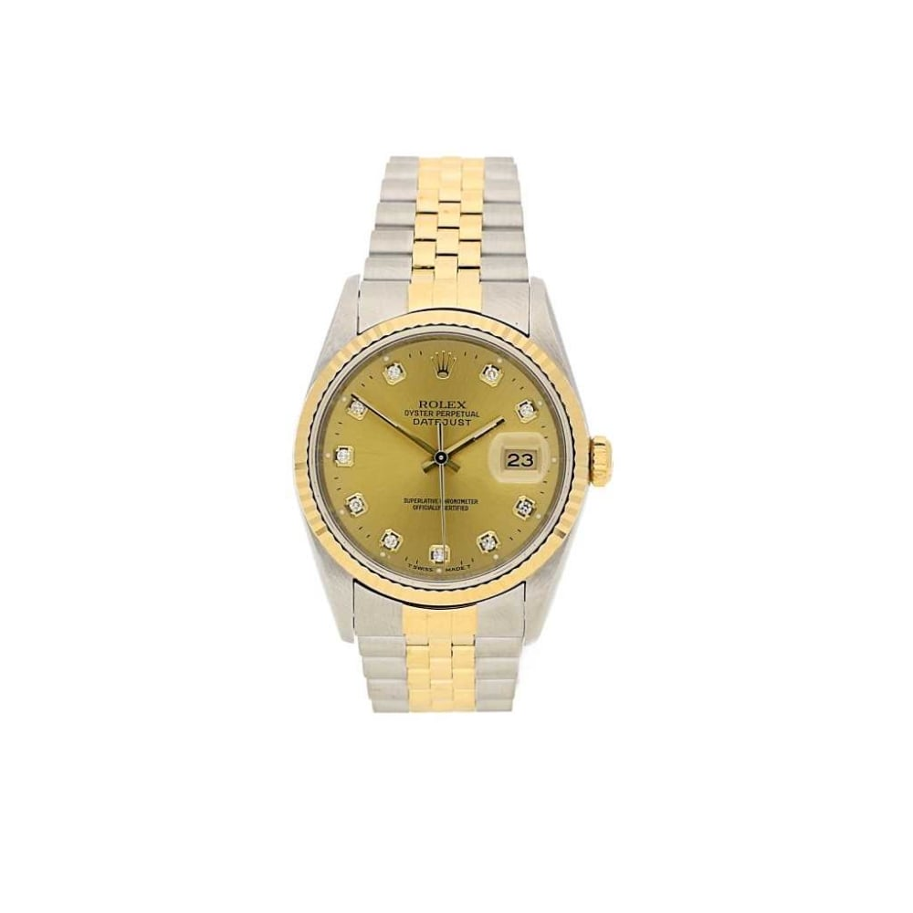 gents steel and 18ct gold rolex datejust 16233 watch 1996. Black Bedroom Furniture Sets. Home Design Ideas