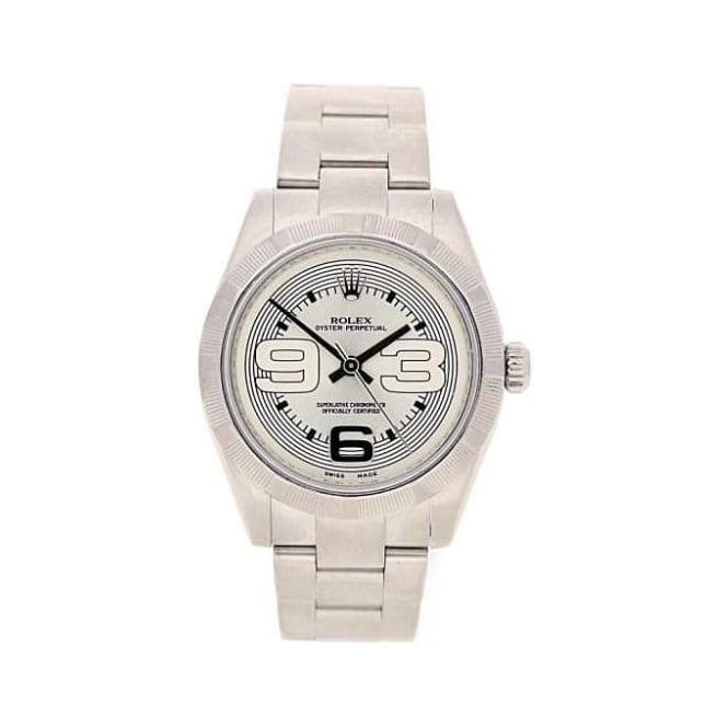 second hand rolex oyster perpetual 2008 silver dial miltons. Black Bedroom Furniture Sets. Home Design Ideas
