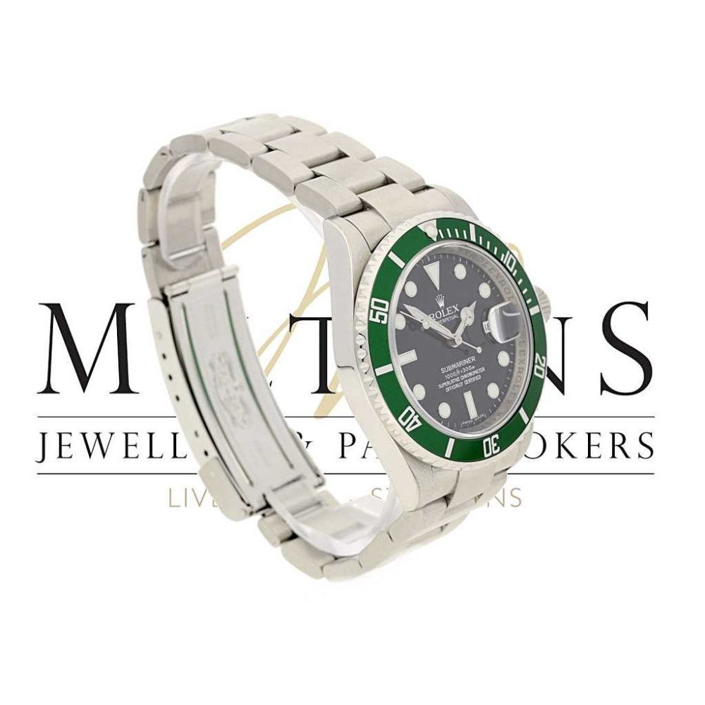 green 50th anniversary rolex submariner watch 16610lv 2009. Black Bedroom Furniture Sets. Home Design Ideas