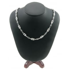 Silver Fancy Linked Necklace