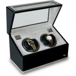 Sophisticat Duo Automatic Watch Winder - Black Ebony