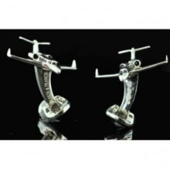 Sterling SIlver Jet Cufflinks by Deakin and Francis