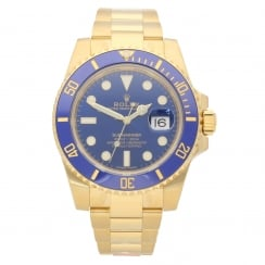 Submariner 116618LB - 18ct Yellow Gold - Blue - Unworn