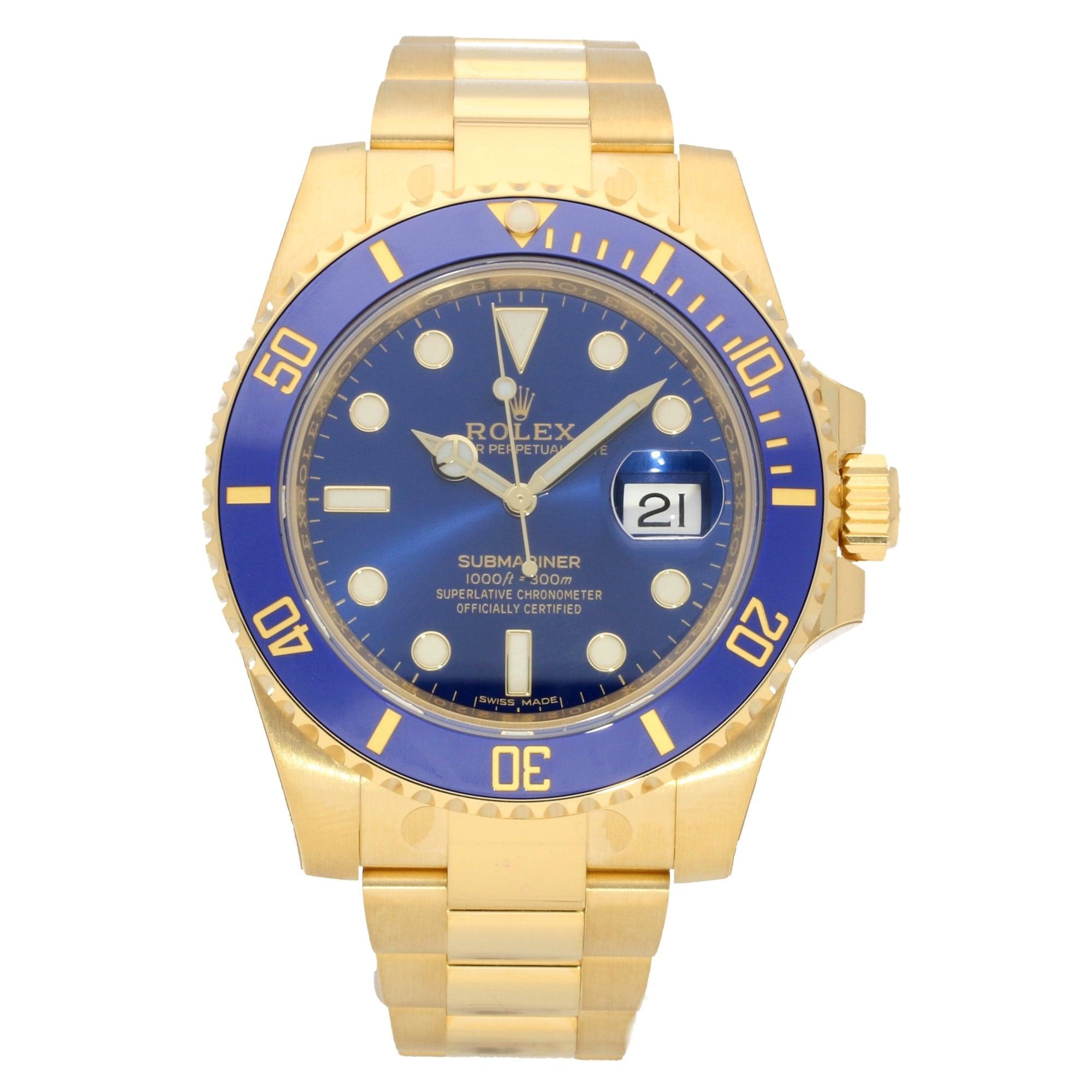wholesale dealer 3f5c7 23925 Rolex Submariner 116618LB - Blue Dial - 2018 Unworn