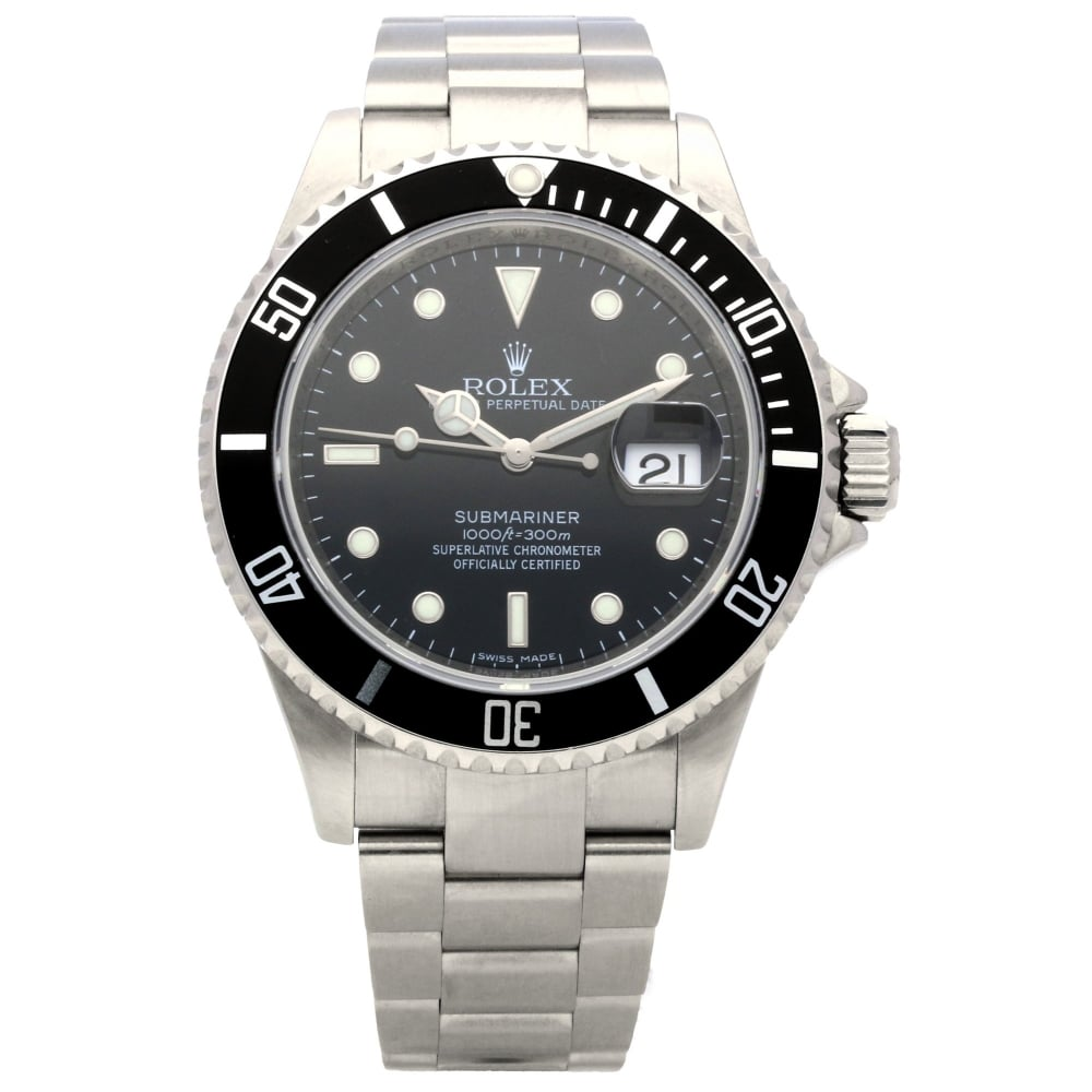 91e9d992ed8 Rolex Submariner 16610 - 40mm Gents Watch - 2008 | Miltons Diamonds