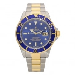 Submariner 16613 - Gents Watch - Blue Dial - 1999