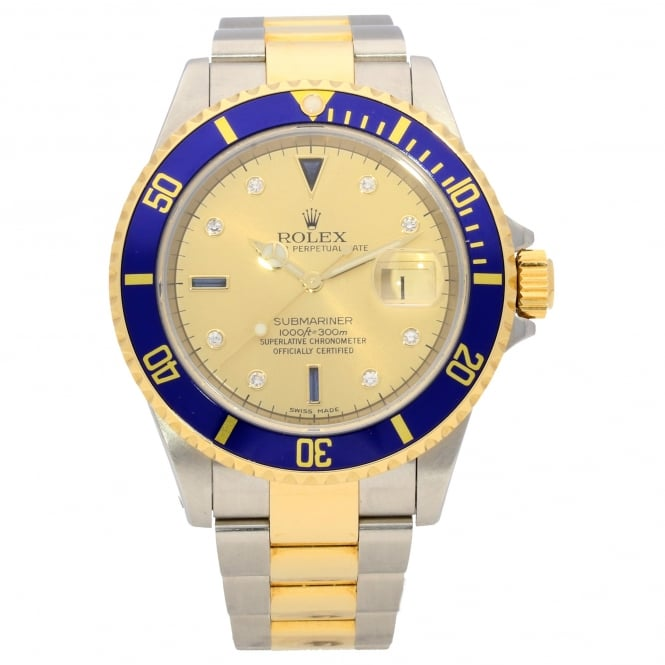 Rolex Submariner 16613 - Sapphire and Diamond Dial - 2000