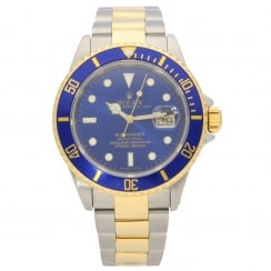 Submariner 16613 - Second Hand Mens Watch - Blue - 2000