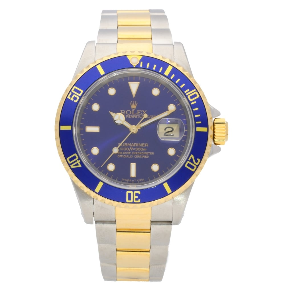 Submariner 16613 Steel And Gold Blue 1999