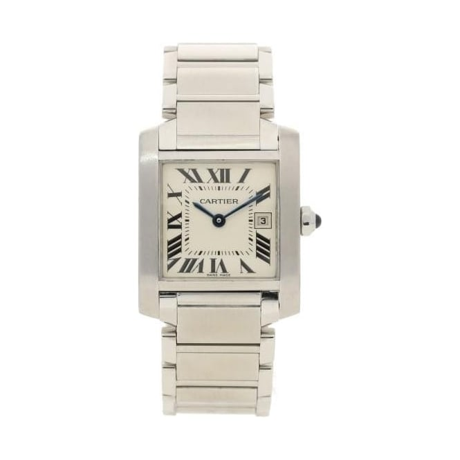 cartier tank francais 2465 second hand watch approximately 2000. Black Bedroom Furniture Sets. Home Design Ideas