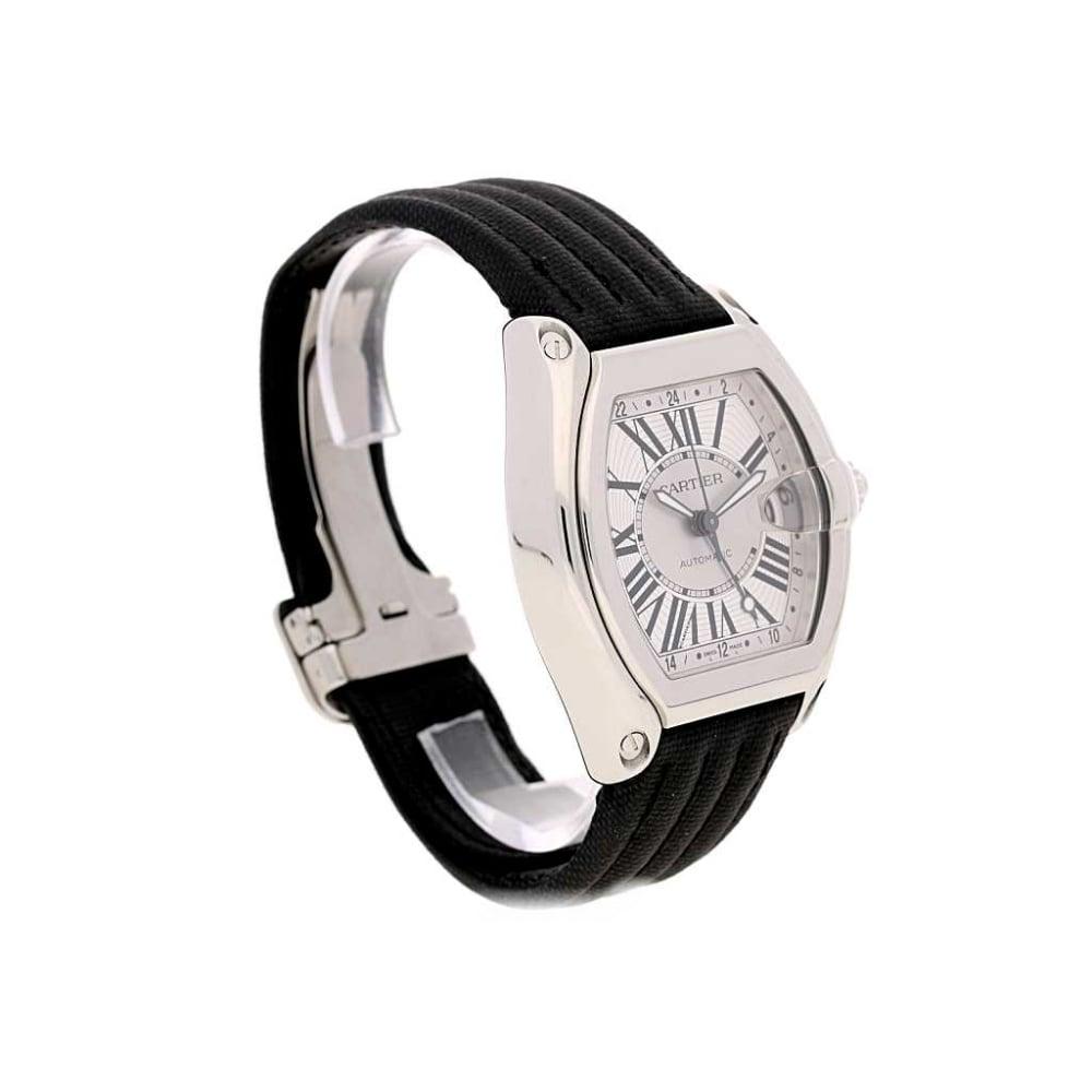b88777b8283 Unworn 2015 Cartier Roadster GMT - Fabric Strap - Silver Dial W5310036