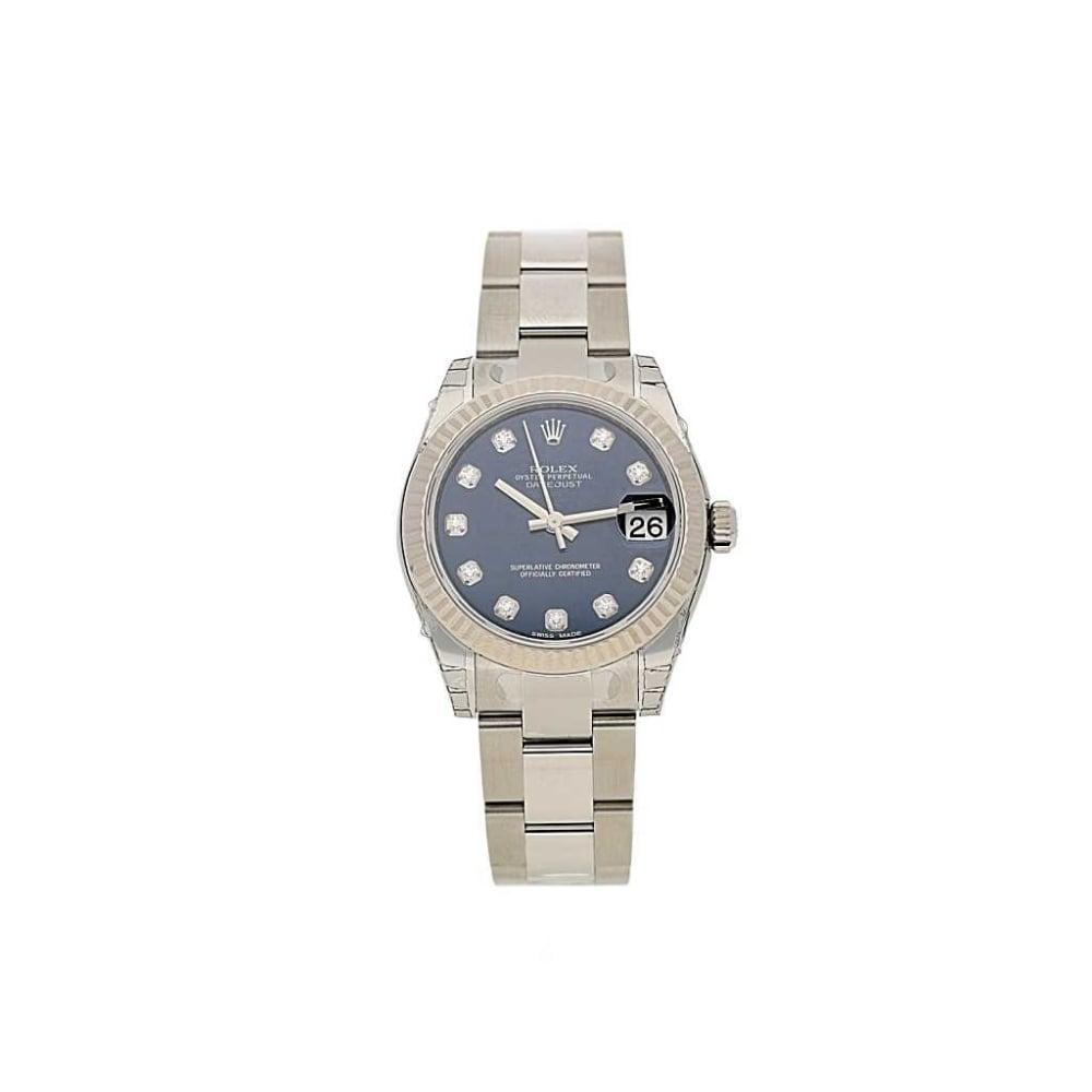 Unworn Rolex Datejust Midi 178274 - Blue Diamond Dial