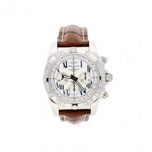 Breitling Chronomat B01 Watch Brown Leather Strap