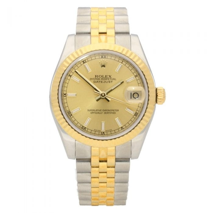 Rolex Datejust 178273 - Midsize Bi-Colour Watch - Gold Dial - 2006