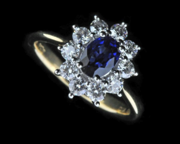 alternative engagement rings, sapphire engagement ring